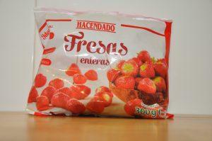 Fresas congeladas para zumo detox