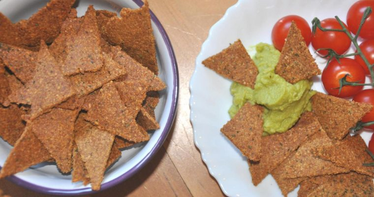Nachos de lino (totopos)