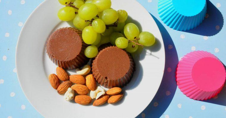 Gelatina proteica de chocolate