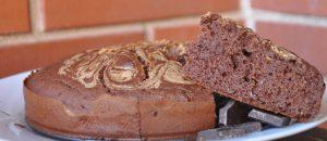 Bizcocho de avena y cacao